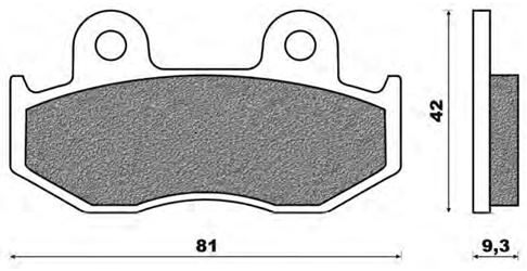 Couple of Scooter Elite Organic SE brake pads (front)