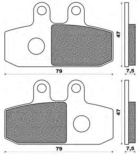 Couple of Scooter Active Organic BA brake pads (right front)