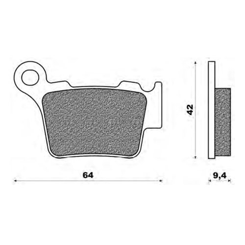 Couple of Newfren Offroad Dirt Organic BD brake pads (rear)