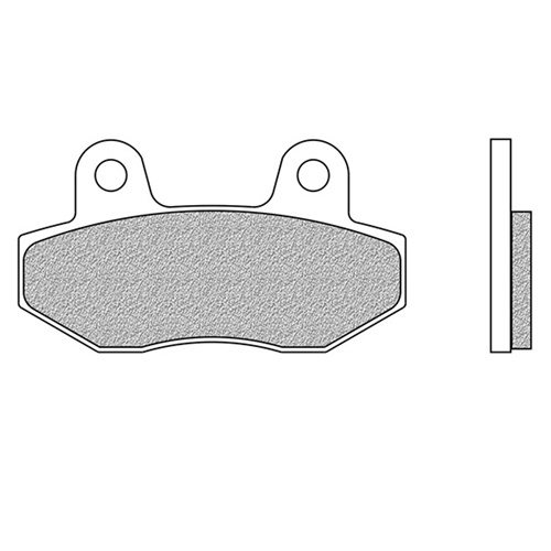 Couple of Newfren Scooter Active Organic BA brake pads | front
