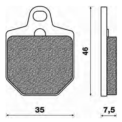 Couple of Offroad Dirt Sinter SD brake pads (front)