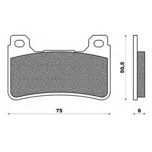 Couple of Road Touring Sinter TS brake pads (front)