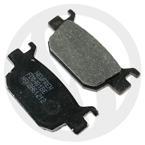 Couple of Newfren Scooter Elite Organic BE brake pads (rear)