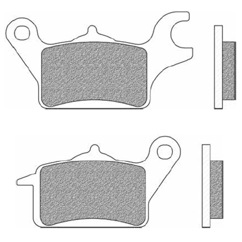 Couple of Scooter Elite Organic BE brake pads (left front)