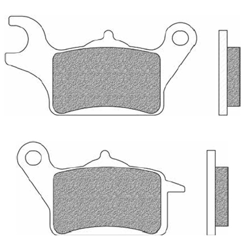 Couple of Scooter Elite Organic BE brake pads (right front)