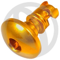 GR quick release screw - gold ergal 7075 T6 - L 22 (Lightech)