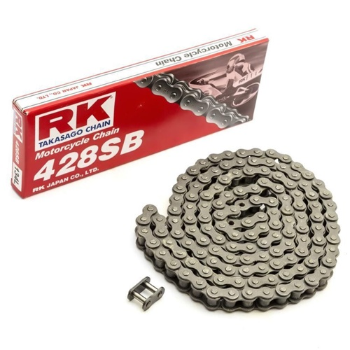 428SB black chain - 118 links - pitch 428 | RK | stock pitch