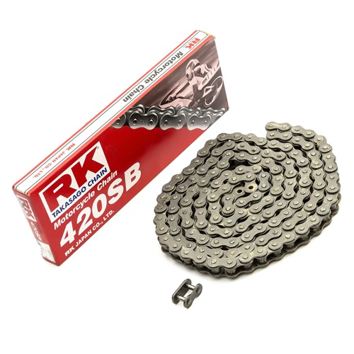 420M RK black chain - 130 links - pitch 420 (stock pitch)