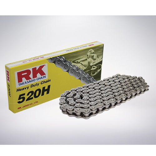 520H black chain - 120 links - pitch 520 | RK | stock pitch