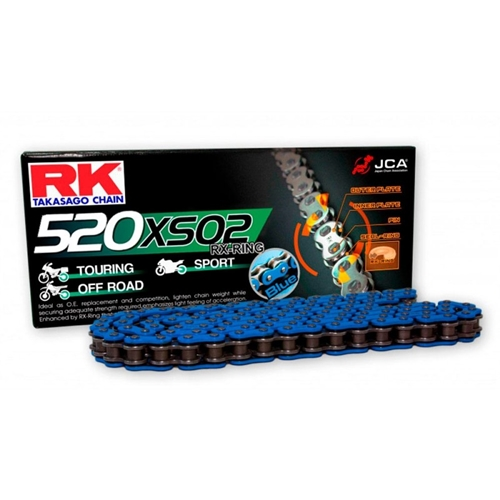 BB520XSO blue chain - 120 links - pitch 520 | RK | stock pitch