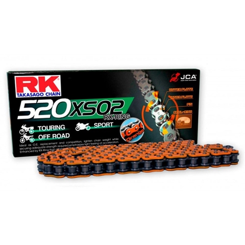 DD520XSO orange chain - 120 links - pitch 520 | RK | racing pitch