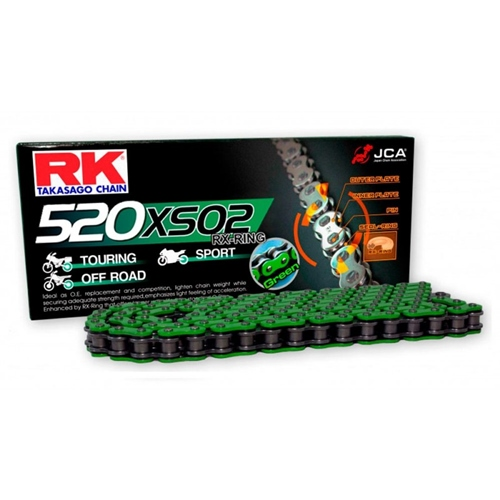MM520XSO green chain - 120 links - pitch 520 | RK | racing pitch