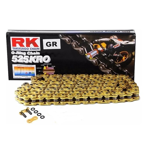 GB525KRO gold chain - 124 links - pitch 525 | RK | stock pitch
