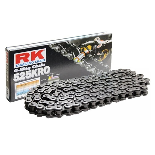 525KRO black chain - 124 links - pitch 525 | RK | stock pitch