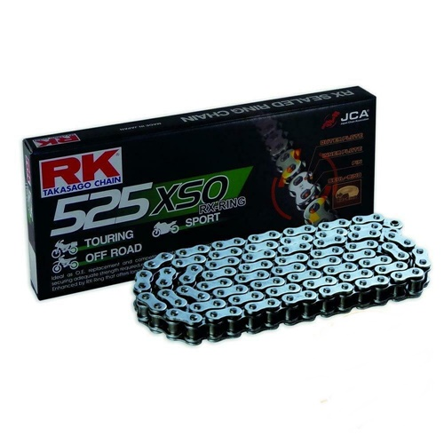 525XSO black chain - 108 links - pitch 525 | RK | stock pitch