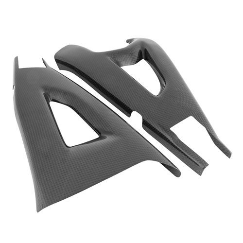 Couple of swingarm guards   glossy carbon