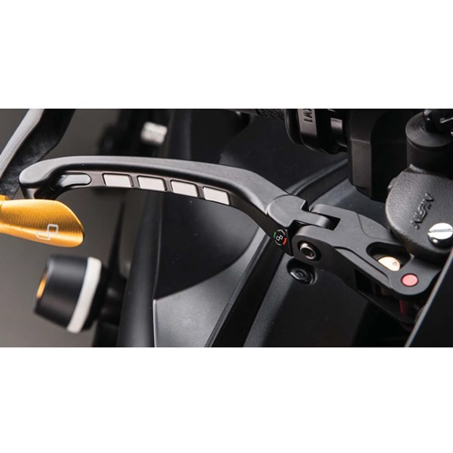 Folding brake lever with right adjustment