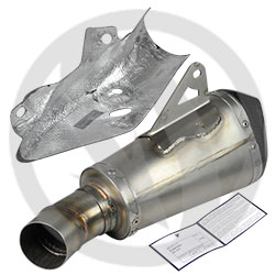 Homologated conical silencer (stainlees steel / titanium / carbon)