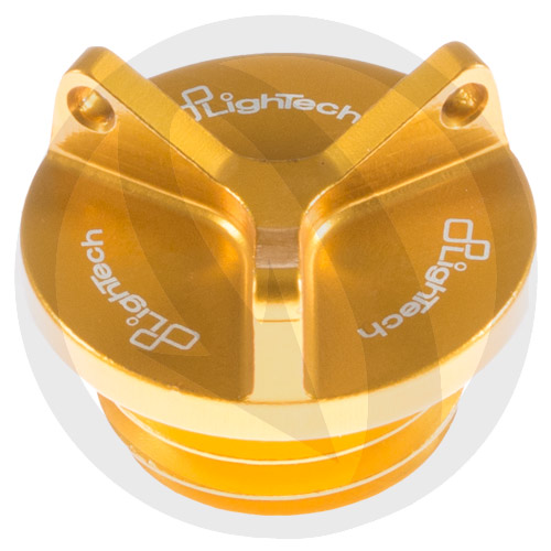 Gold oil filler cap (Y type) (Lightech)