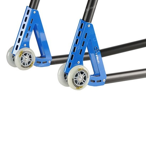 Blue rear stand with couple of forks | Lightech