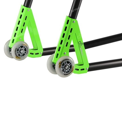 Green rear stand with couple of forks | Lightech