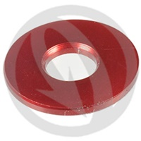 RS standard washer - red ergal 7075 T6 - M10 (Lightech)