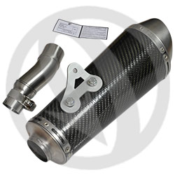 STR stainless steel / carbon silencer