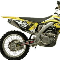 Racing stainless steel / titanium / carbon full exhaust