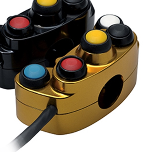 Left gold racing switch unit 5 buttons | STM Italy