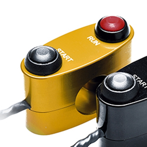 Right gold racing switch unit 2 buttons run / start | STM Italy