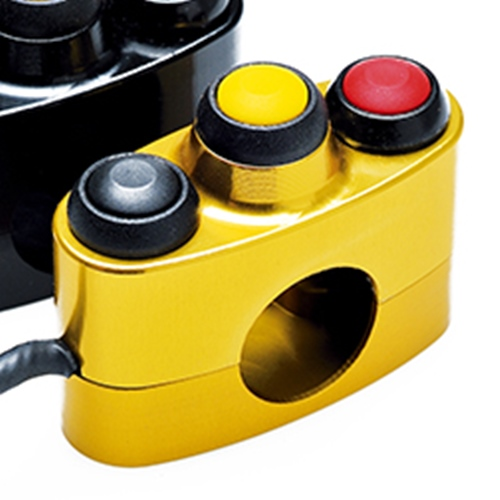 Left / right gold racing switch unit 3 buttons | STM Italy