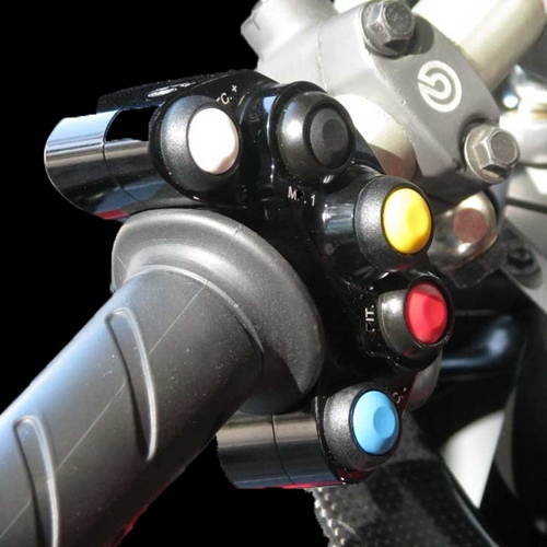 Left black racing switch unit 5 buttons | STM Italy