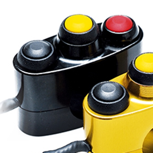 Left / right black racing switch unit 3 buttons | STM Italy
