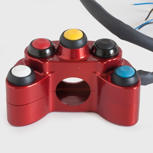 Left red racing switch unit 5 buttons | STM Italy
