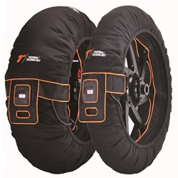 Couple of Evo Tri Zone size L black tyre-warmers