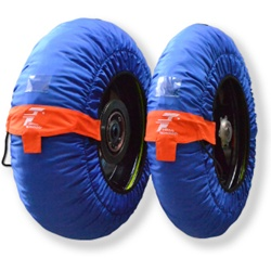 Couple of Performance size XS blue tirewarmers