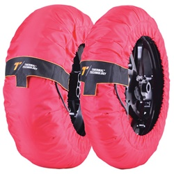 Couple of Performance size XXL red tirewarmers
