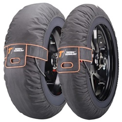 Couple of Pro size M black tyre-warmers