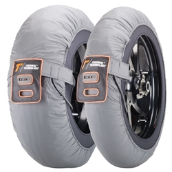 Couple of Race size XL silver tyre-warmers