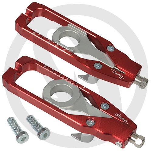 Couple of red chain adjusters