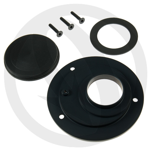 Lightech black spin locking fuel tank cap (rear)