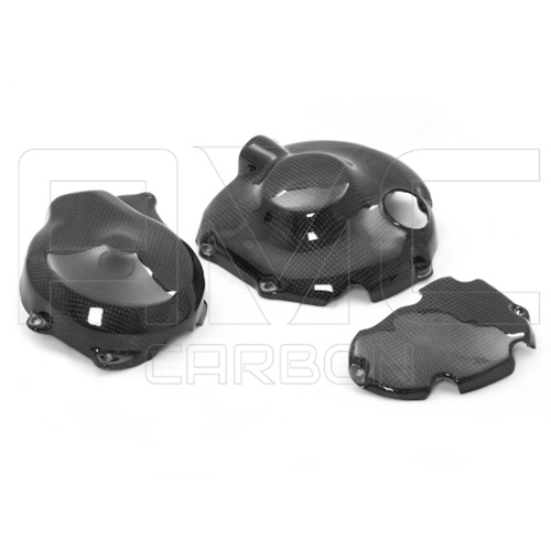 Engine crankcase guard kit (glossy carbon)