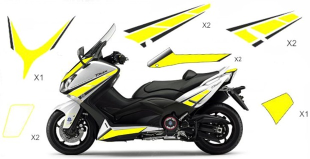 Stickers replica Yamaha 50th Anniversary yellow