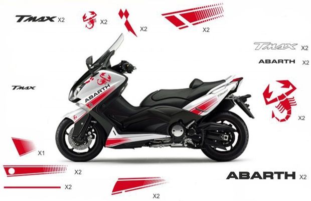 Stickers replica Yamaha Abarth